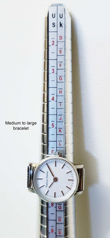 Size of Medium to Large Spring watch bracelet